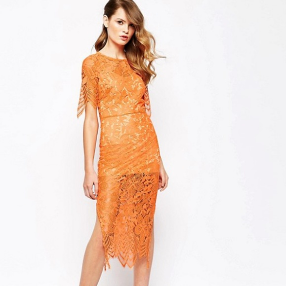 ea0cd203daff6 For Love And Lemons Dresses & Skirts - For Love And Lemons Luna Midi Dress  Orange